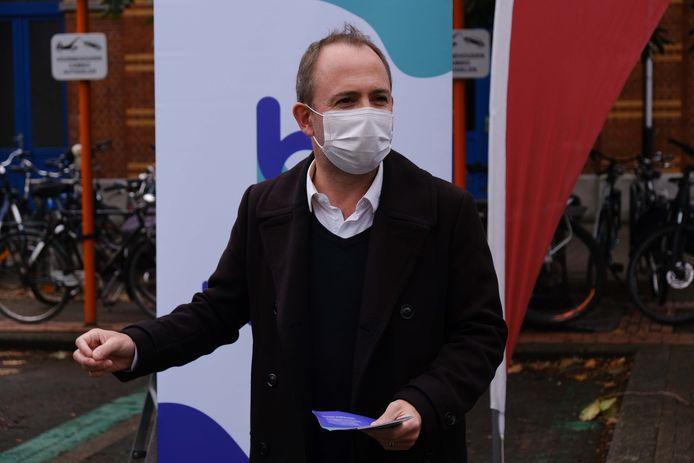 Schepen David Dessers (Groen) brengt de teller van het aantal mobipunten in Leuven tegen eind 2021 op vijftig.