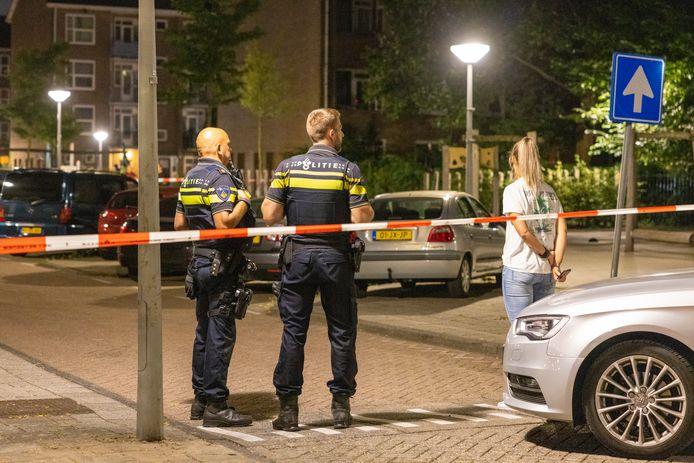 Na een melding van een schietpartij in West is er woensdagavond een gewonde aangetroffen.