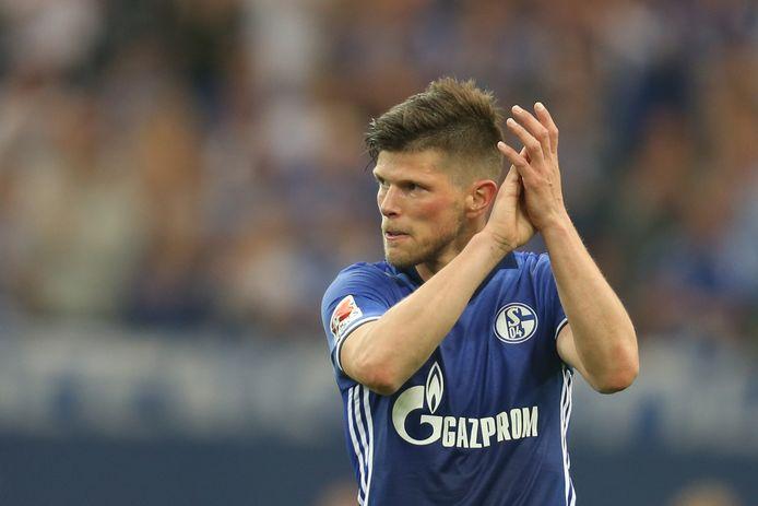 Klaas-Jan Huntelaar in het shirt van Schalke 04.