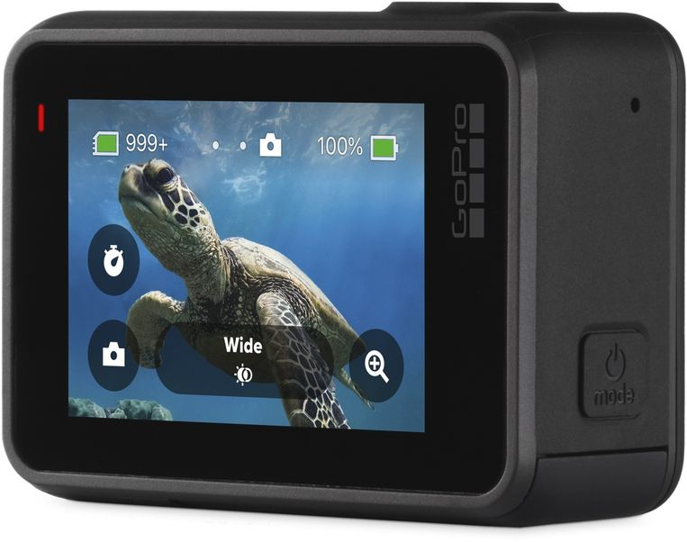 Bij gebruikers die de wat ruigere kicks opzoeken in hun lichaamsbeweging zijn action cams, zoals deze GoPro Hero7, enorm populair. Beeld GoPro