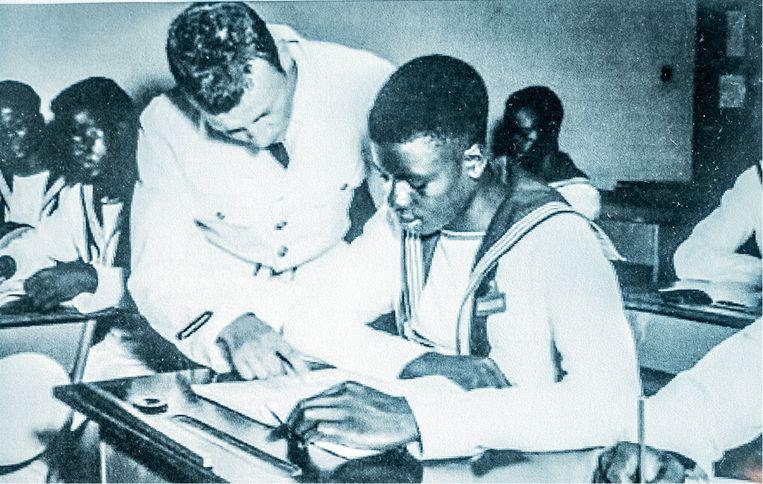 'Aan de school van de Belgische marine kregen we logies, eten en zelfs zakgeld. Het was de eerste keer in mijn leven dat ik geld op zak had!' Beeld
