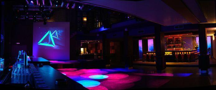 Een lege De Senaat in Valkenswaard, want nachtclubs en discotheken mogen nog steeds niet open.