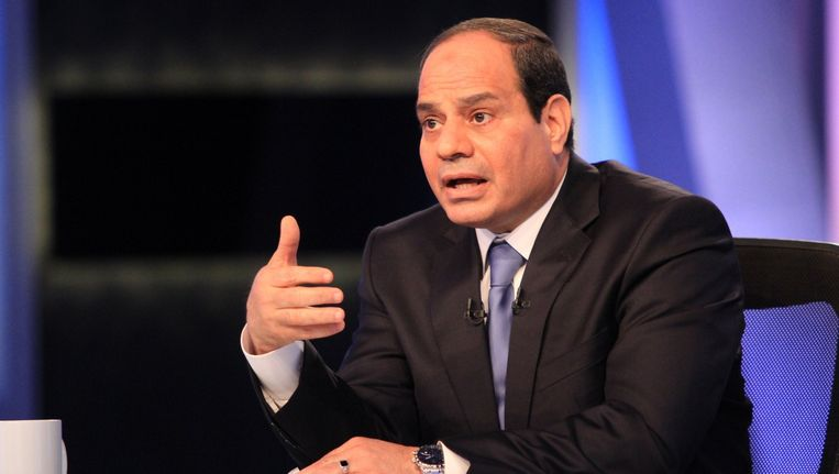President Abdel Fattah al-Sisi van Egypte. Beeld AFP