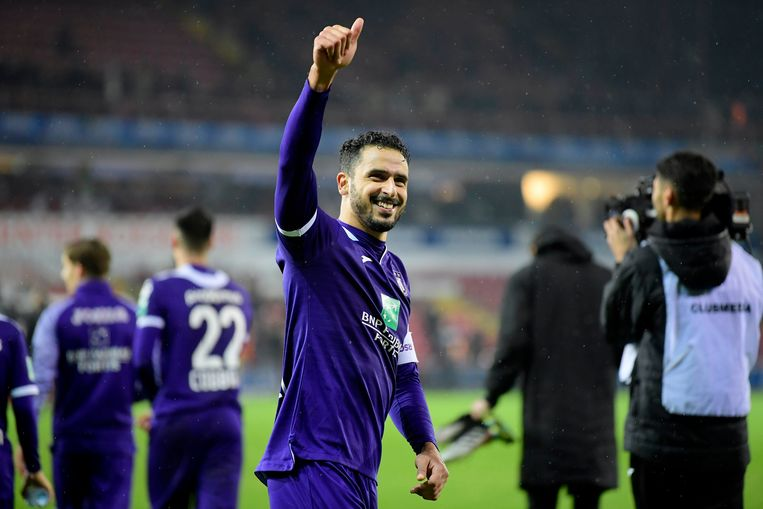 Nacer Chadli is nu al onmisbaar bij Anderlecht. Beeld Photo News