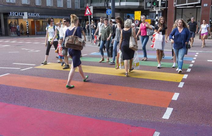 Het regenboogpad, mét nijntje-verkeerslicht