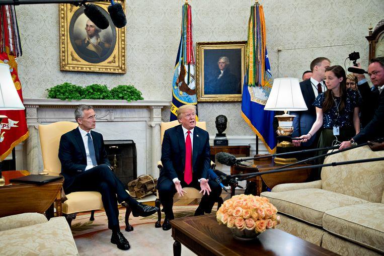 Amerikaans president Donald Trump had vandaag NAVO-secretaris-generaal Jens Stoltenberg op bezoek in het Witte Huis.