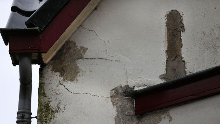 Schade aan een woning in Slochteren. Beeld anp