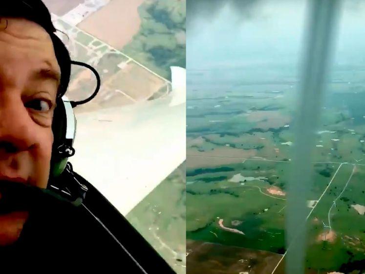 Piloot vliegt vlakbij windhoos en maakt deze prachtige beelden