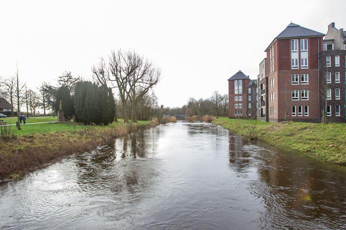Hoog water in De Dommel in Sint-Oedenrode begin vorig jaar.