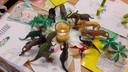 Het tafeltje van Jim met de dino's op de school in Bemmel.