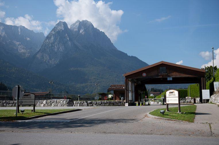 De 26-jarige vrouw werkt in de Edelweiss Lodge and Resort van het Amerikaanse leger in het vakantieoord aan de voet van de Beierse Alpen.  Beeld EPA