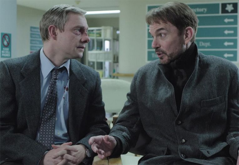 Martin 'Lester Nygaard' Freeman en Billy Bob 'Lorne Malvo' Thornton. Beeld FX Networks