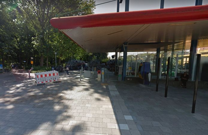 De achterzijde van station Dordrecht.
