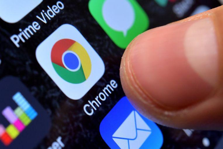 De Google Chrome-browser op een smartphone. Beeld EPA