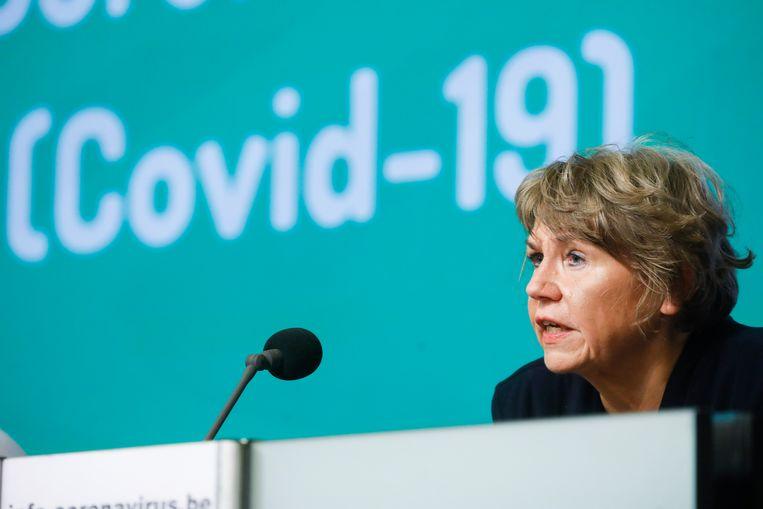 Karine Moykens, de voorzitter van het interfederaal comité voor testing en tracing Beeld BELGA