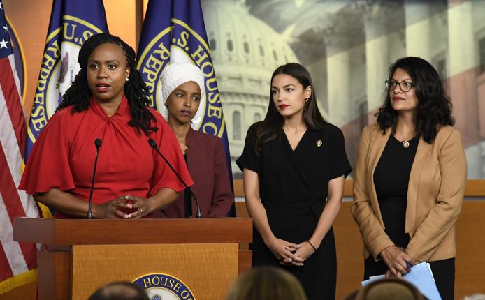 Ayanna Pressley, Ilhan Omar, Alexandria Ocasio-Cortez et Rashida Tlaib.