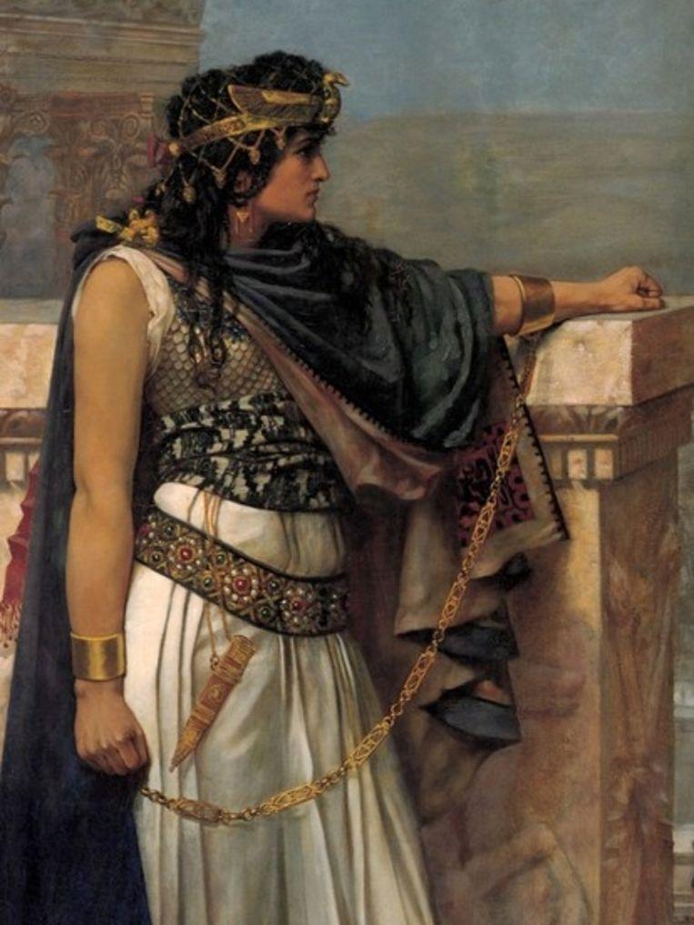 Koningin Zenobia regeerde in de derde eeuw over Palmyra (nu Syrië). Dit schilderij is van de Brit Herbert Schmalz (1856–1935).  Beeld Wikimedia Commons