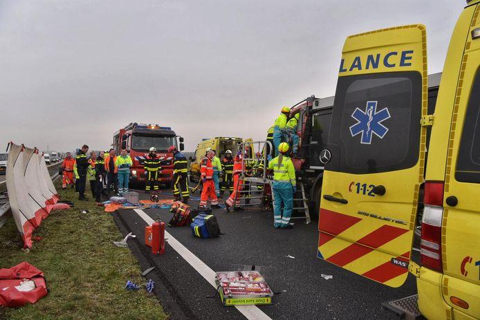 Ernstig ongeluk op A59 bij Terheijden