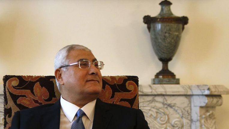 Interim-president Adli Mansour Beeld reuters