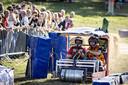 Biervaten als wielen; het kon zaterdag in Markelo.