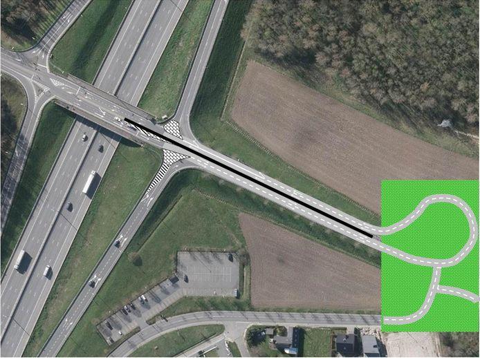 Afraaien op de brug wordt voor twee verkeersstromen fysiek onmogelijk gemaakt. Bestuurders zullen het keerpunt in de Molenstraat moeten gebruiken.