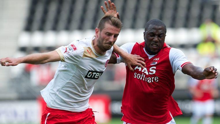 Altidore, hier aan de slag tegen Düsseldorf, scoorde tweemaal voor AZ. Beeld PHOTO_NEWS