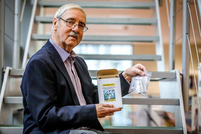 Guido Persoone ontwikkelde een edukit voor scholen om de gevolgen van sigarettenpeuken in het milieu aan te tonen