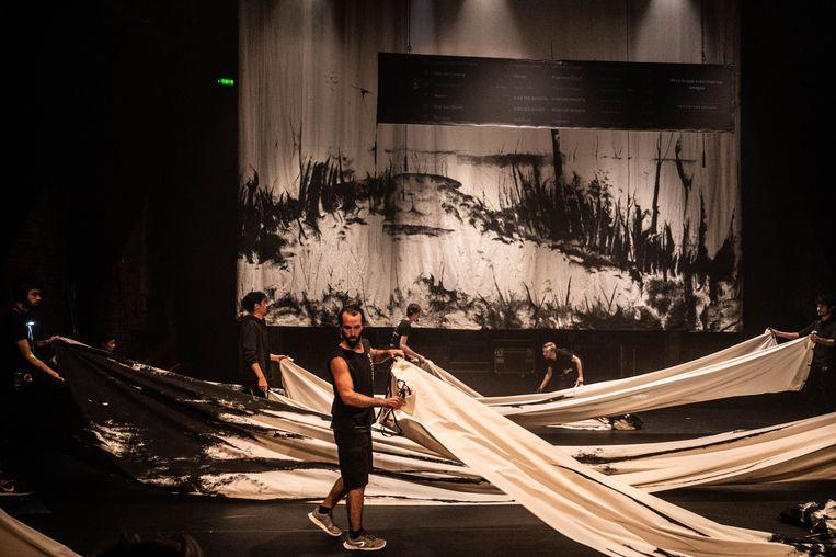 Renaissance door La tristura uit Spanje, tijdens Festival Noorderzon in Groningen Beeld Niels Knelis Meijer
