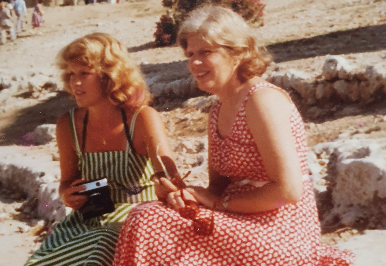Diete en Lidy in 1976, Pompeï.