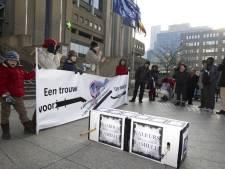Une cinquantaine de manifestants contre le mariage homosexuel à Bruxelles