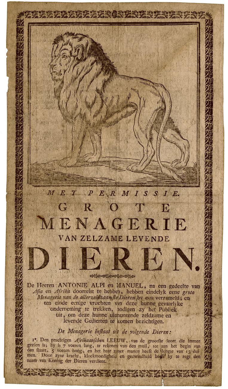 Strooibiljet in Utrecht, 1806. Beeld