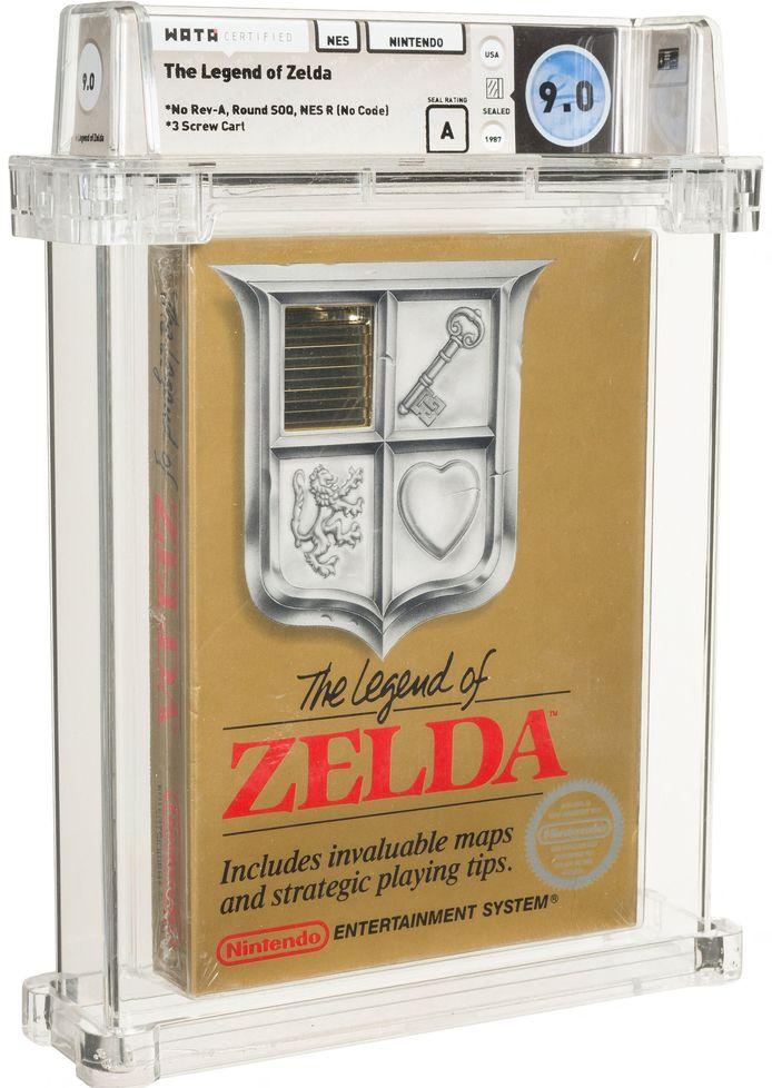 """Une cartouche pour les consoles Nintendo NES du mythique jeu vidéo """"La légende de Zelda"""" a été adjugée pour la somme """"record"""" de 870.000 dollars."""