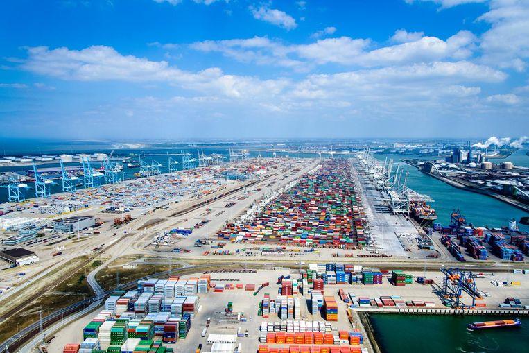 De APM-terminal op de Maasvlakte Beeld HH