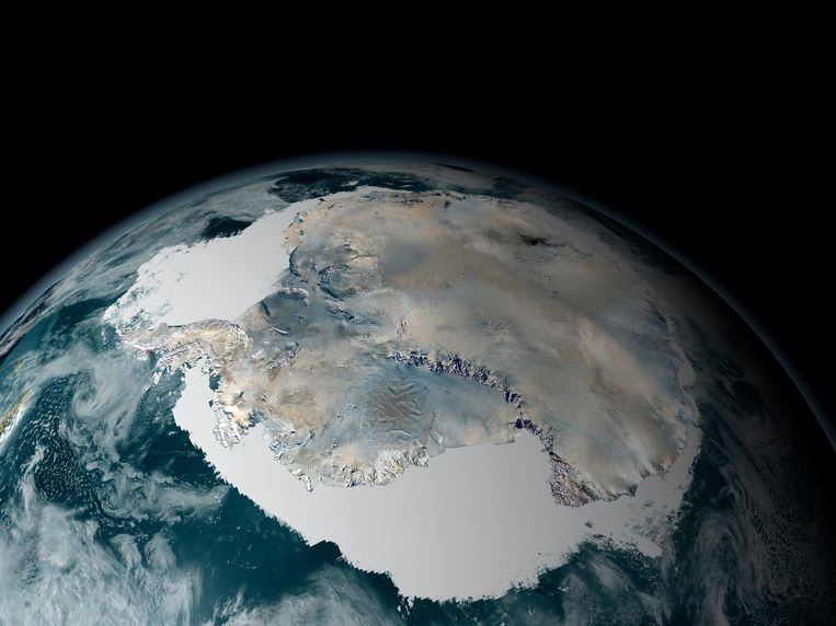 Archiefbeeld: foto van Antarctica uit de ruimte. Beeld Thinkstock