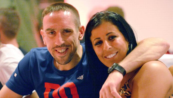 Franck Ribéry et sa femme Wahiba.