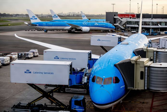 KLM houdt zo'n 80 procent van de vloot aan de grond.