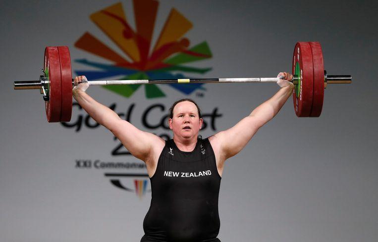 De Nieuw-Zeelandse transgenderatleet Laurel Hubbard. Beeld REUTERS
