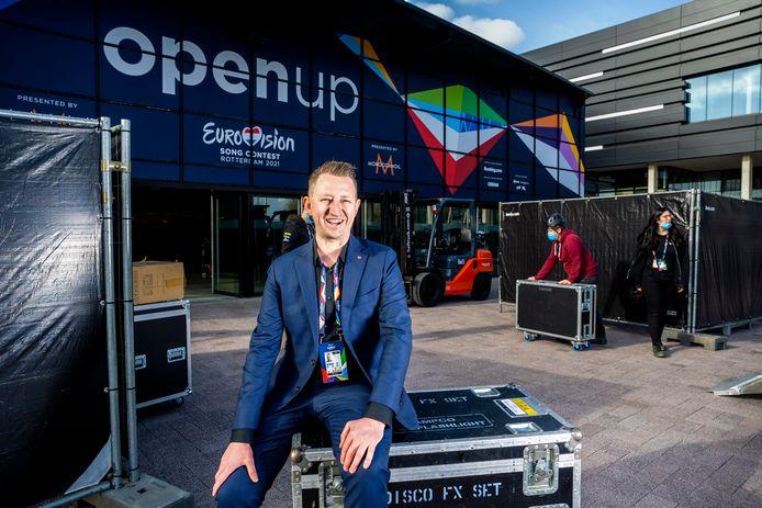 Dave Geensen, projectmanager Eurovisie Songfestival namens Host City / Gemeente Rotterdam.