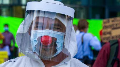 Viruswaanzin betoogt in Brussel: coronamaatregelen werden even 'vergeten', maar politie deelde geen pv's uit