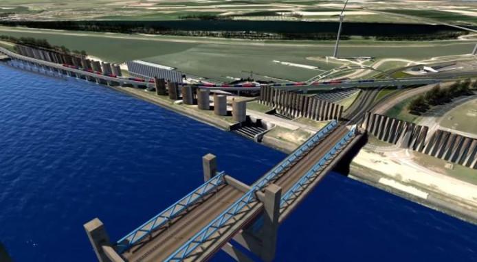 Inwoners zijn bang dat de treinen die over de nieuwe havenspoorlijn gaan rijden veel herrie maken.