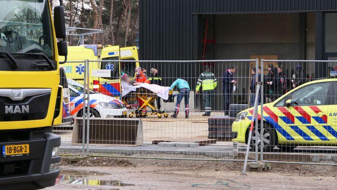 Hulpdiensten zijn massaal naar Maarsbergen gegaan voor een bedrijfsongeval