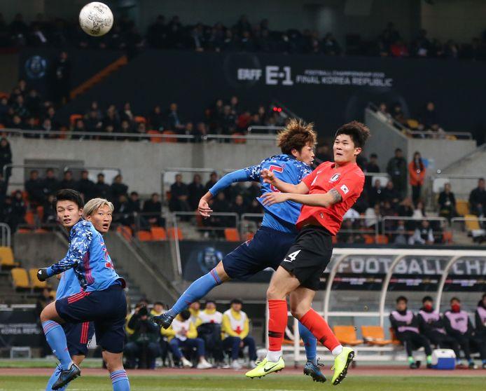 Kim Min-Jae met nummer 4 in actie voor Korea, waarvoor hij al dertig interlands speelde.