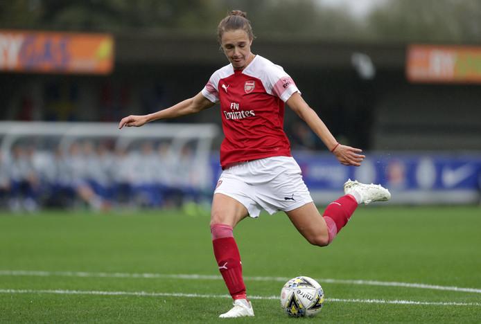 Vivianne Miedema in actie voor Arsenal Women.