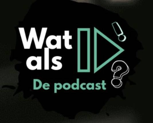 Het logo van de podcastsite.
