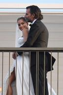 Sylvie en Niclas straalden na hun huwelijk.