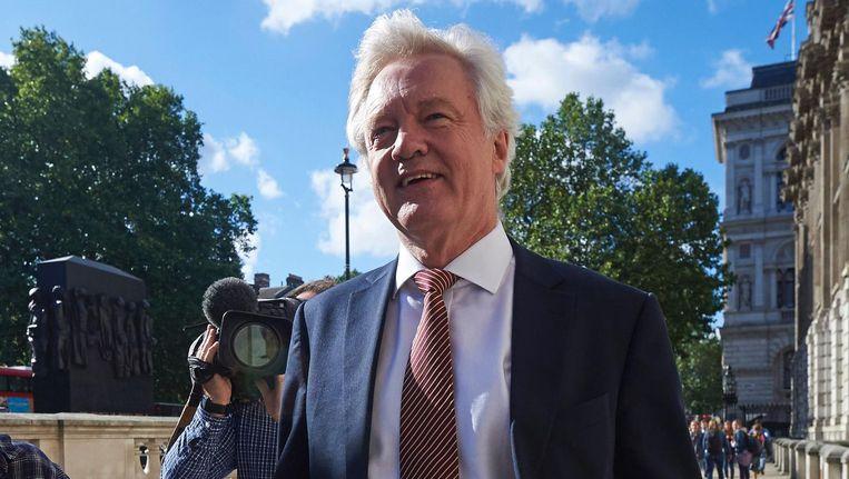 Brexit-minister David Davis. Beeld afp