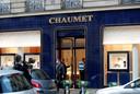Politieonderzoek bij juweliershuis Chaumet gisteren.