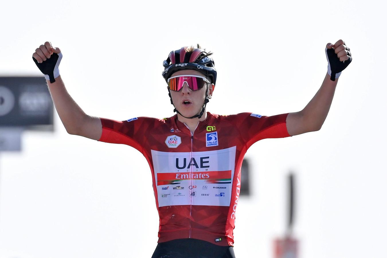 Tadej Pogacar won afgelopen week de Ronde van de Verenigde Arabische Emiraten.