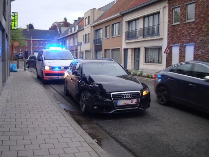 De schade aan de Audi was aanzienlijk.