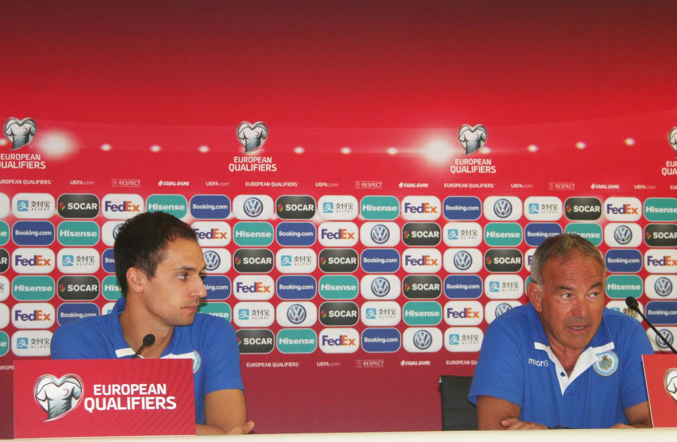 Cristian Broli en bondscoach Franco Varelli.